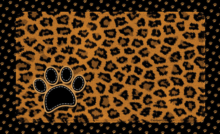 Drymate underlägg  leopard brun
