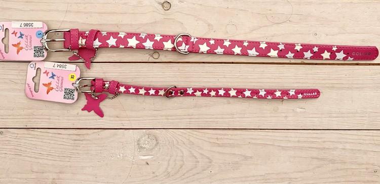 Collar glamour halsband,rosa