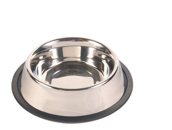 Trixiehundskål i rostfritt stål