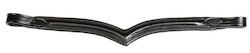 V-pannband i svart läder