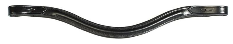 Wave pannband i svart läder