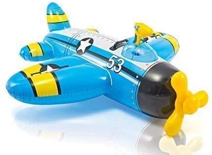 Uppblåsbart flygplan med vattenpistol
