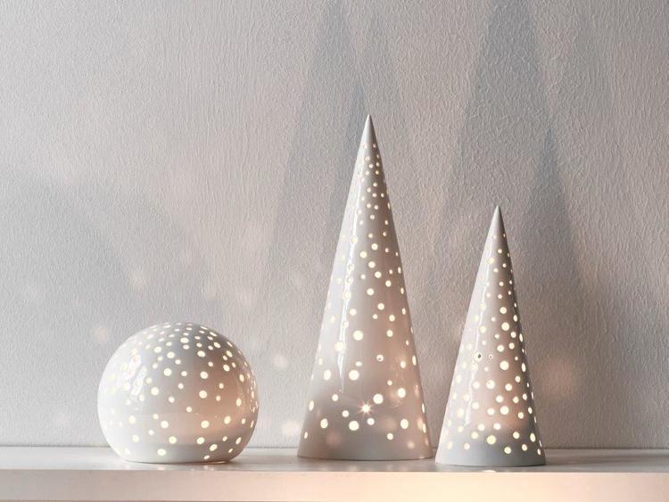 Kähler Nobili ljusstake mellan vit