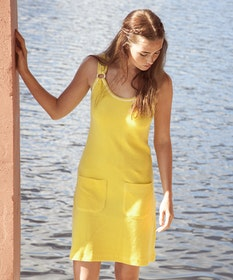 Jumperfabriken Deborah dress yellow