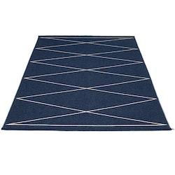 Pappelina matta Max Dark blue · Vanilla 180x260 cm