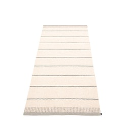 Pappelina matta Belle Warm grey 85x200 cm
