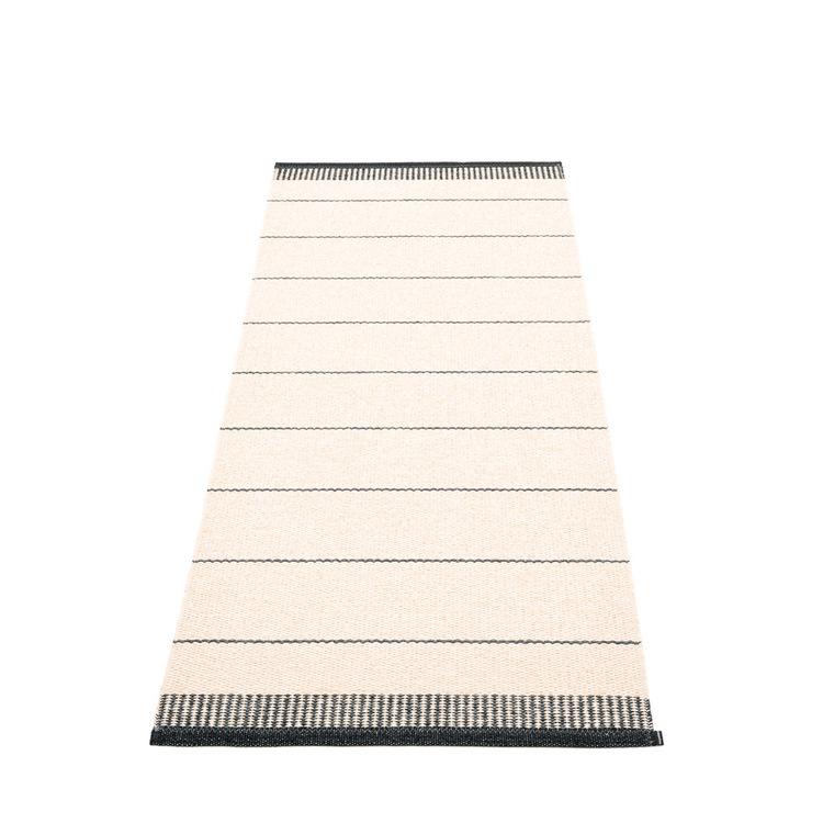 Pappelina matta Belle Black 85x200 cm