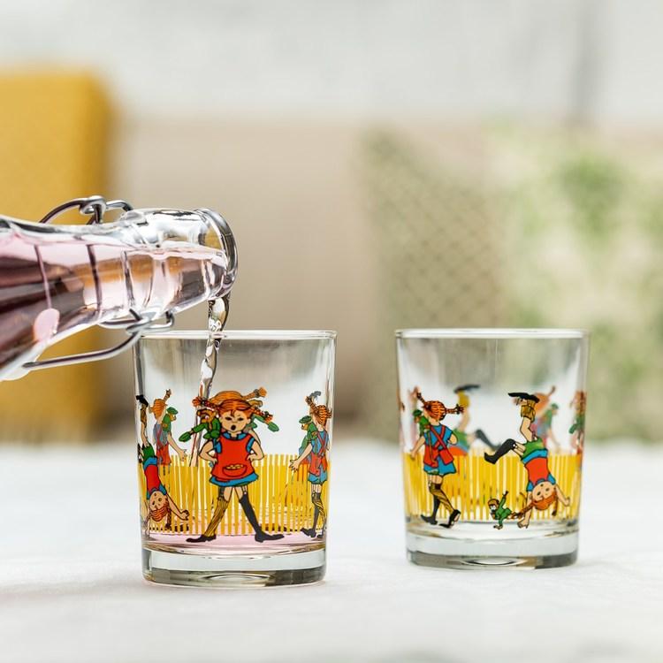 Muurla glasflaska Pippi Långstrump
