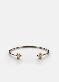 Skultuna Open key cuff armband guld medium