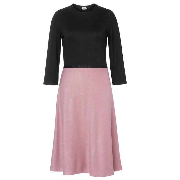 Jumperfabriken Magdalena dress black/pink