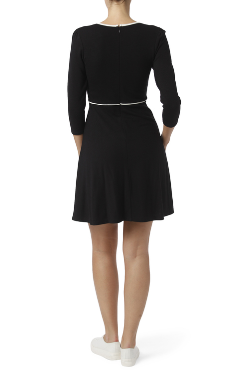 Jumperfabriken Magdalena dress black/offwhite