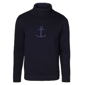 Olle by Jumperfabriken Anchor Rollneck navy