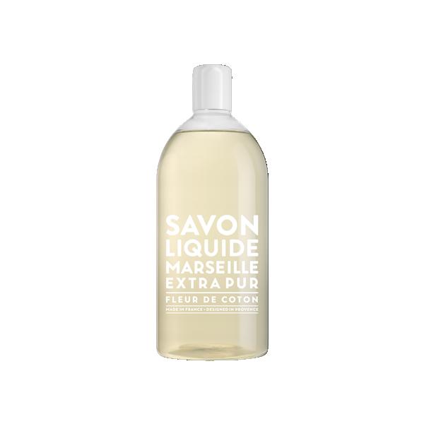 Savon de Marseille Extra Pur Cotton Flower, 1 liter refill