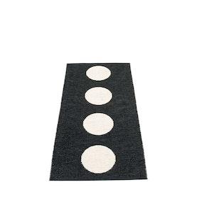 Pappelina matta Vera black · vanilla 70x150 cm
