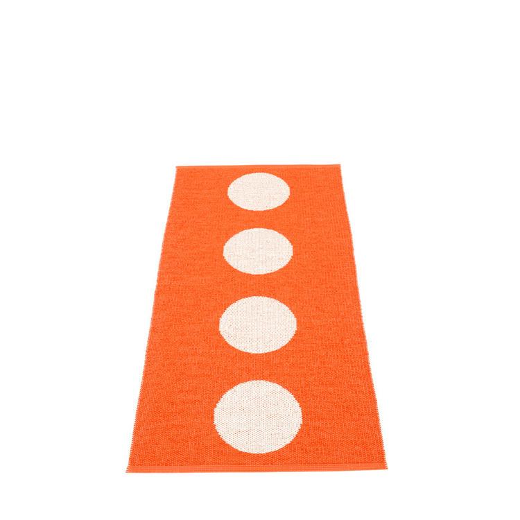 Pappelina matta Vera orange · vanilla 70x150 cm