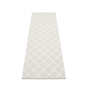 Pappelina matta Rex Fossil grey · White 70x240 cm