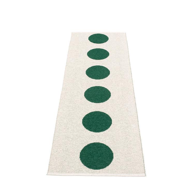Pappelina matta Vera dark green · vanilla 70x225 cm