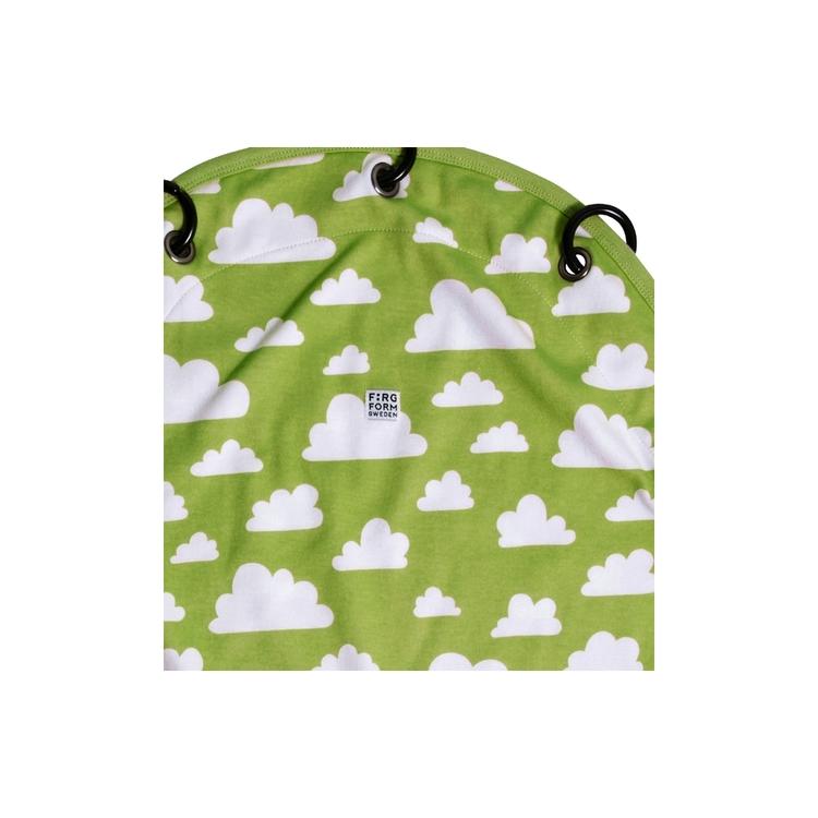 Färg&Form Moln barnvagnsdraperi grön