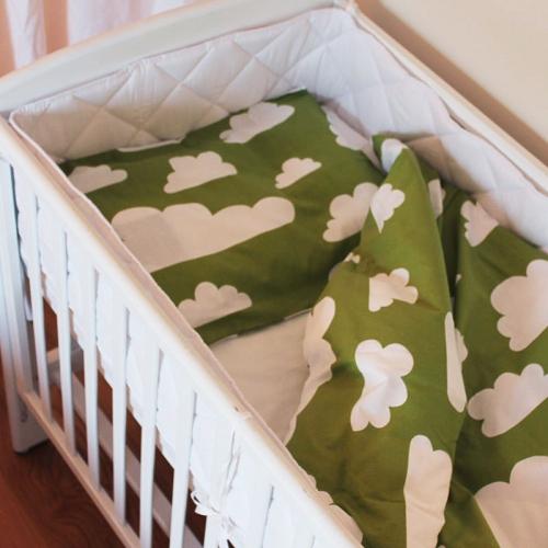 Färg&Form Moln bäddset spjälsäng grön