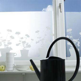 Siluett Frost fönsterfilm Pelargon