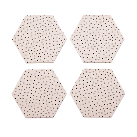 By May Polygon glasunderlägg 4-pack nude