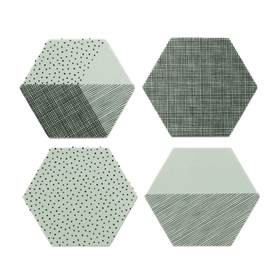 By May Polygon glasunderlägg 4-pack mint