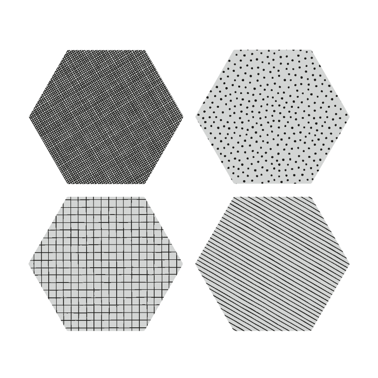 By May Polygon glasunderlägg 4-pack Concrete