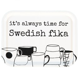 "Erika Tubbin ""Swedish fika"" liten bricka"