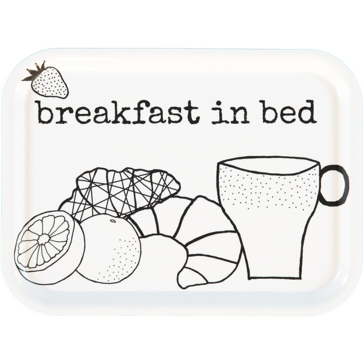 "Erika Tubbin liten bricka ""Breakfast in bed"""