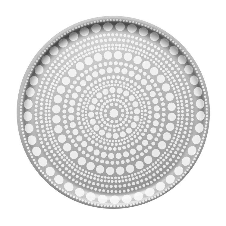 Iittala Kastehelmi rund bricka light grey