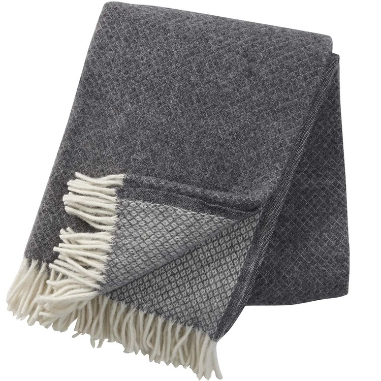 Klippan Yllefabrik pläd Vega grey