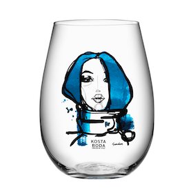 """Kosta Boda All About You """"Miss You"""" tumbler 2-pack"""