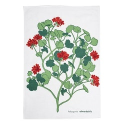 Almedahls Pelargonia kökshandduk röd