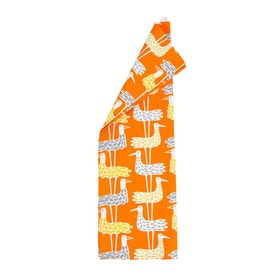 Klippan Yllefabrik Shore Birds kökshandduk orange