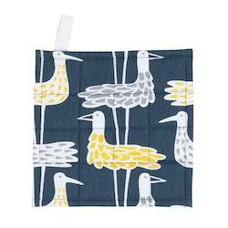 Klippan Yllefabrik Shore Birds grytlapp blå