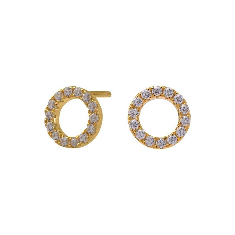 Joanli Nor örhänge Anna cirkel 8 mm guld
