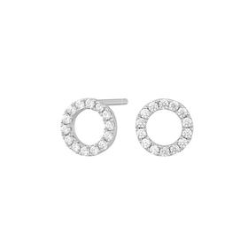 Joanli Nor örhänge Anna cirkel 8 mm silver