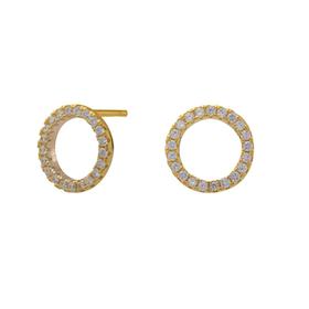 Joanli Nor örhänge Anna cirkel 10 mm guld