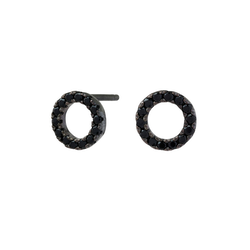 Joanli Nor örhänge Anna cirkel 8 mm svart