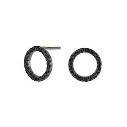 Joanli Nor örhänge Anna cirkel 10 mm svart