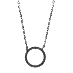 Joanli Nor halsband Anna cirkel svart