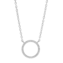 Joanli Nor halsband Anna cirkel silver