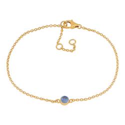 Joanli Nor armband Sweets guld med blå kalcedon