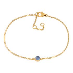 Nordahl Jewellery armband Sweets guld med blå kalcedon