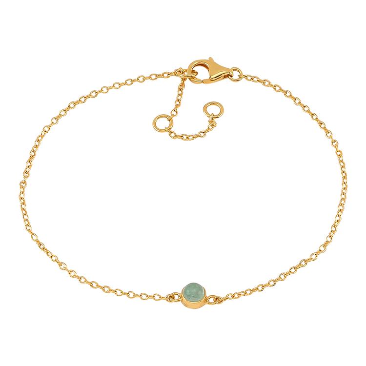Nordahl Jewellery armband Sweets guld med grön aventurin