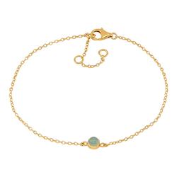 Joanli Nor armband Sweets guld med grön aventurin