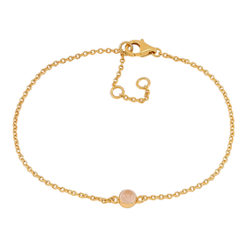 Nordahl Jewellery armband Sweets guld med rosa kvarts