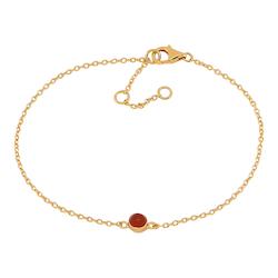 Joanli Nor armband Sweets guld med röd onyx
