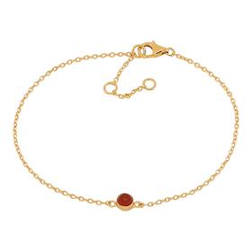 Nordahl Jewellery armband Sweets guld med röd onyx