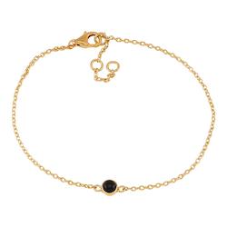Joanli Nor armband Sweets guld med svart onyx